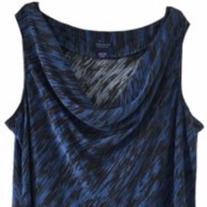 Doncaster Blue and Black 100% Silk Top 24 W